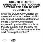 Question 3: Method for setting fee paid to Duluth city councilors